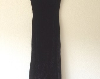 1960's black velvet gown