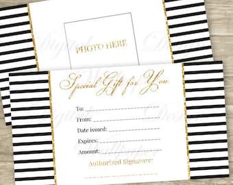 Printable Gift Certificate,Gift Card, Gift Certificate,Gift Certificate Printable,Digital Gift Certificate,Gold Glitter Gift Card