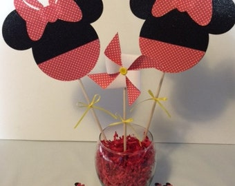 Minnie Mouse Red Birthday Party Centerpiece