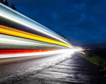 Light trails in Inverness