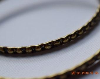 Set of 2 bracelets dot texture bronze color