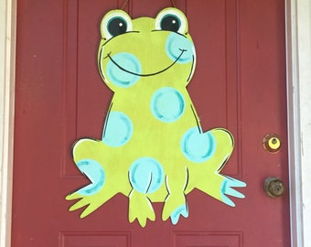 Frog with sign