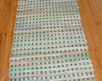 Blue mosaic tiles rug
