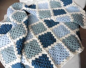 Crochet Baby Blanket Blue