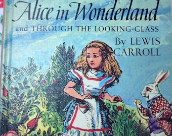 vintage Alice in wonderland - 1960s Alice  -mad hatter -  five little peppers - companion books - 2 in 1 book - 1960s  children's book