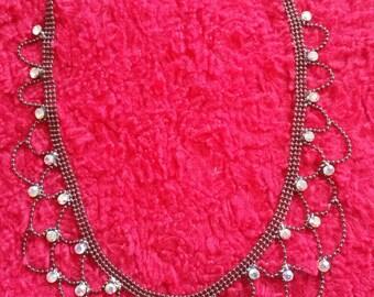 vintage faceted necklace,