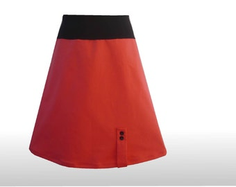 Strawberry red SKIRT stretch A-line dress time 40, skirts for the Office, a-line skirt, Womans skirt