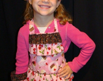 Children's Apron Set - Cupcakes