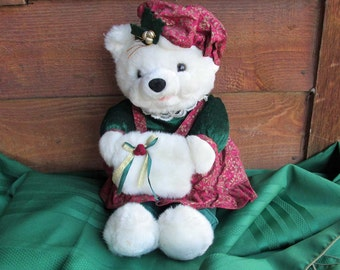 REDUCED Kids of America Vintage Plush Christmas Bear