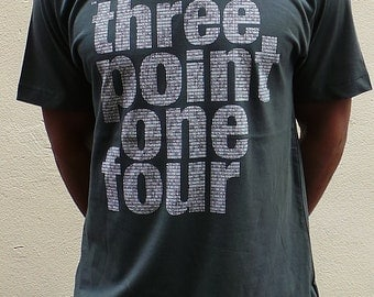Three point one four men's T shirt - charcoal grey