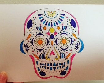 Sugar Skull - Blank Card (Set of 10)