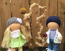 Interior dolls. Handmade dolls. Clothes dolls.