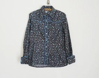 Vintage paisley western shirt // Size S