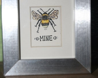 Bee mine original framed artwork
