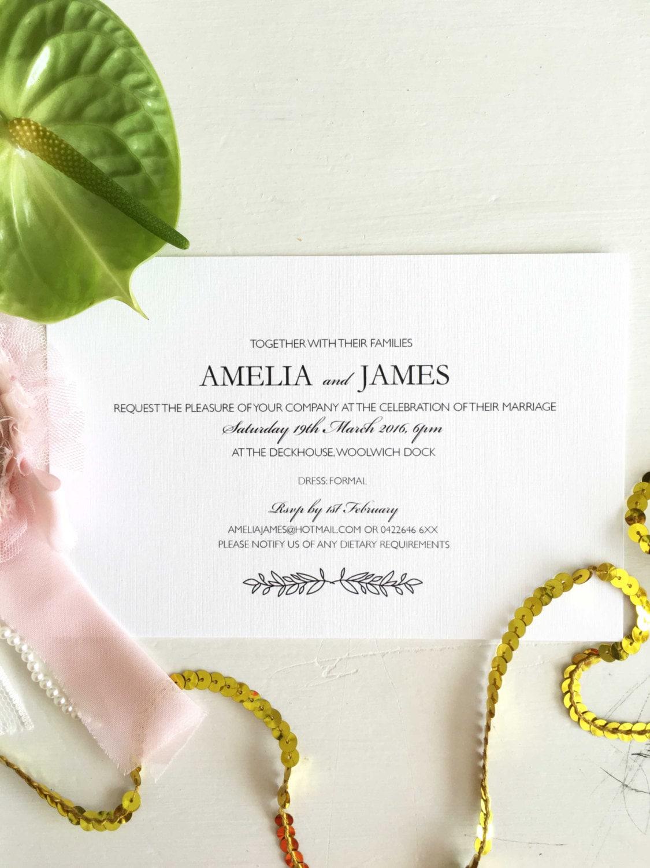 Engagement Invitation, Custom Engagement Invite, Simple Engagement ...
