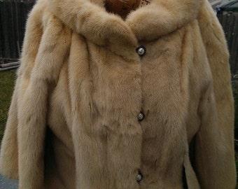 Vintage Blonde Mink Coat