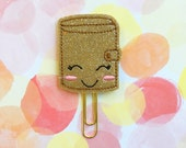 SALE CLEARANCE DESTASH, Kawaii Planner Clip, Planner Accessories, Notebook Clip, Bookmark, Felties, Stocking Stuffer, Machine Embroidered