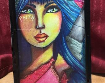 Framed 4x6-Sword of the Spirit