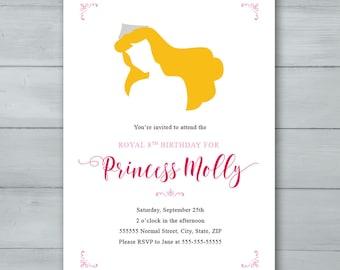 Sleeping Beauty Birthday Party Invitation  |  Aurora Birthday Invitation  |  Princess Invitation  |  Sleeping Beauty Invitation