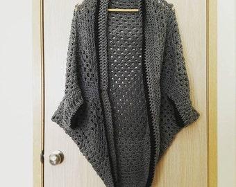 Crocheted Granny Square Shrug // Cardigan