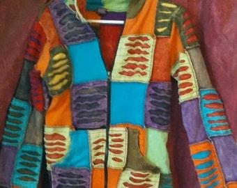 Amazing patchwork hippie boho hoodie