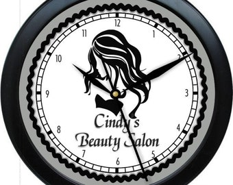 "Hair Salon 10"" Personalized Wall Clock Beauty Salon Hair Stylist"