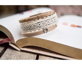 LACED leather BRACELET // Lace Leather Bracelet