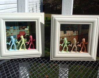 Zombie pair of Shadow Box pictures