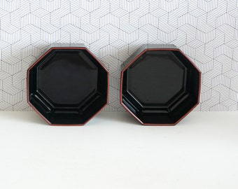 Octime bowls by Arcoroc, France | octagonal design from the 80s