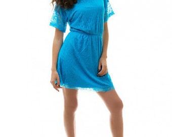 Blue lace dress / Blue Wedding / Cocktail dress / bridesmaid dress / summer blue dress / Wedding Dress