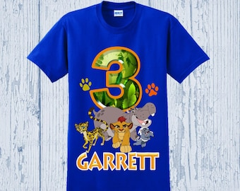 Lion Guard Birthday Shirt - Lion Guard Shirt - Other Styles Available