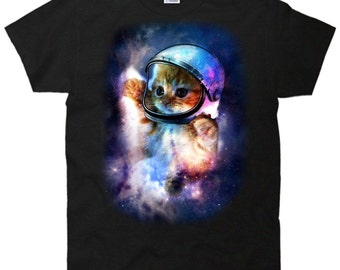 Cat Astronaut In Space T-Shirt