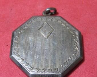 Vintage Costume Pendent locket sterling silver