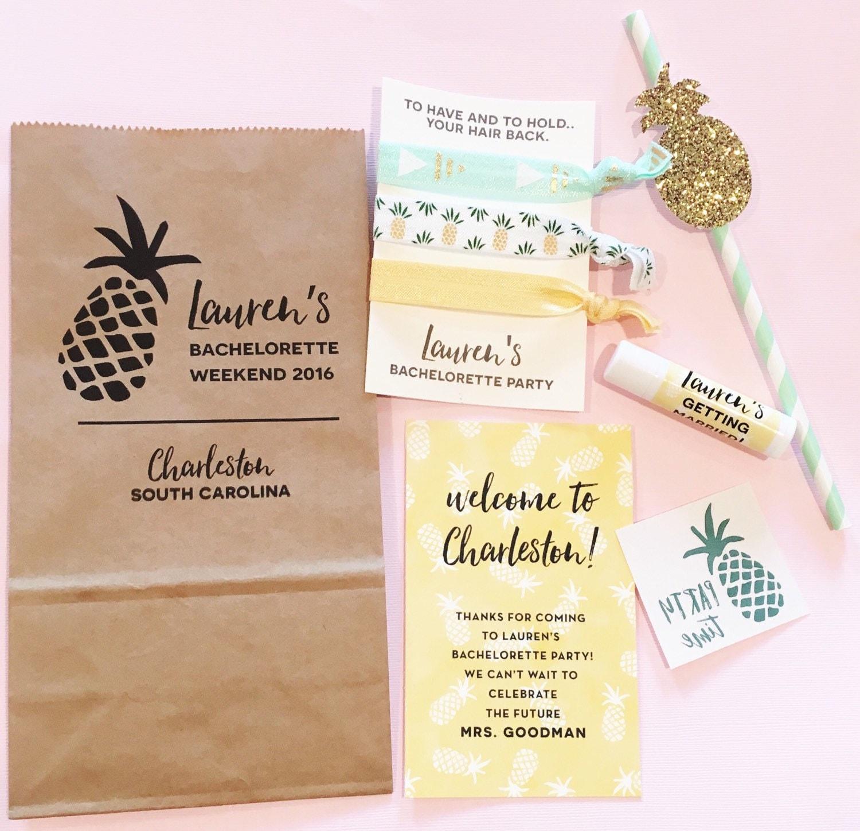 Bachelorette Party Favor Packs // Pineapple // Custom