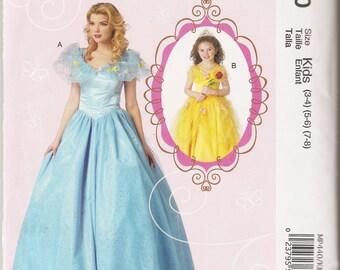 McCall's sewing pattern 440 7213 Cinderella Belle costume dress girls' sizes 3-8 Halloween dress-up