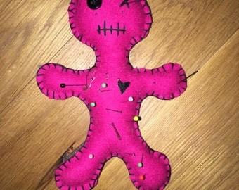 Voodoo doll novelty pincushion handsewn