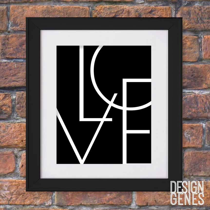 Valentines Gift Printable Wall Art Black And White Wall Art Love