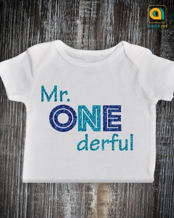 First Birthday Mr Onederful Outfit 1st Birthday Baby Boy