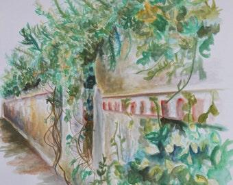 Longwood Garden Study - Original Painting
