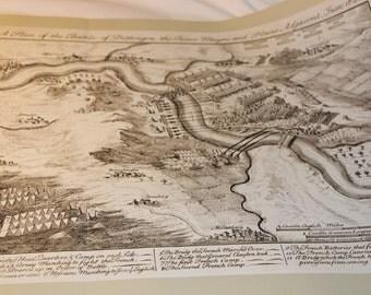 Map Print The Battle of Dettingen