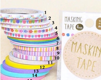 Slim 4mm Masking Tapes