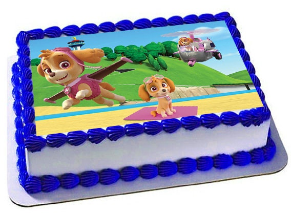 Edible Cake Decorations Paw Patrol : Paw patrol skye cake topper Edible Images Skye Birthday