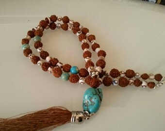 Necklace Tibetan turquoise and variscite.