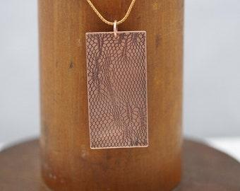 Lace Copper Pendant