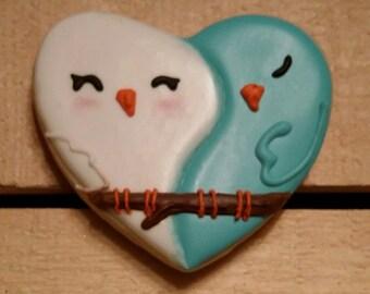 Love Birds Heart Cookie - One Dozen