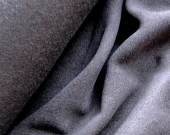 Cashmere wool coat fabric in dark brown sold by 1/2 yard
