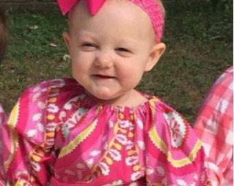 Girls Peasant Dress - Baby Girl Ruffle Dress