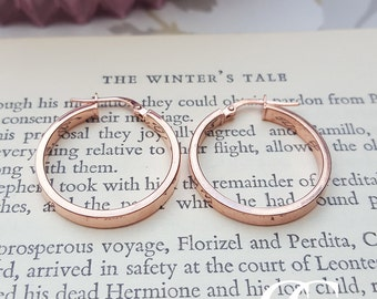 Fine 9ct Rose Gold 2.2cm Hoop Earrings