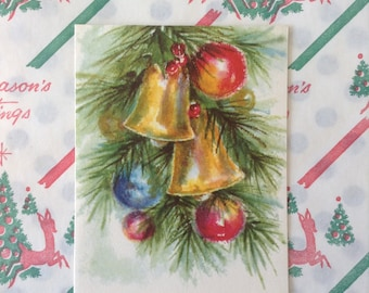 Vintage Hallmark Christmas Card unused