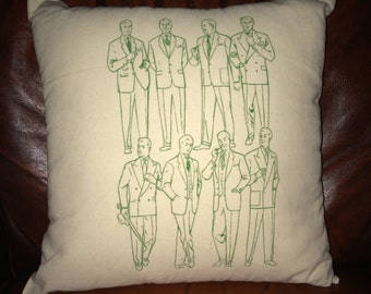 Vintage at Goodwood Retro Dapper Men Cushion